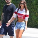 Emily Ratajkowski in Denim Shorts – Out in New York City