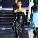Irina Shayk walks the runway, wearing Mugler Archive, at the CR runway x LUISAVIAROMA 90th Anniversary Show - 454 x 681