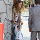 Jennifer Lopez and her son Maximillian David Muniz making a quick stop at a gas station in Sherman Oaks