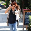 Alyson Hannigan Leaving Starbucks In Brentwood, April 2 2010