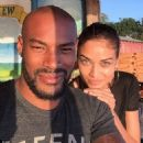 Pulling their best blue steel! Shanina Shaik and Tyson Beckford show off their fun-loving side pulling silly pouts for the camera - 454 x 455