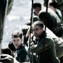 Stark Sands as Walter Gust and Paul Walker as Hank Hansen in Flags of Our Fathers - 2006