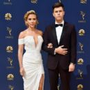 Scarlett Johansson and Colin Jost :  70th Emmy Awards - Arrivals - 416 x 600