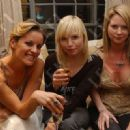 Davinia Taylor, Flora Evans and her sister-in-law Lee Starkey, 2005