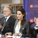 Angelina Jolie jets to London to open women's centre   (February 10, 2015)