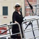 Kris Jenner in Black Dress on holiday on Portofino - 454 x 673