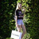 Jessica Hart in Denim Shorts out in LA - 454 x 563