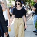Lucy Hale at Alfred's Coffee in Los Angeles