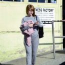 Alice Eve Debuts a new haircut – Leaves a gym in LA - 454 x 552