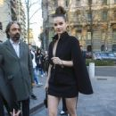 Barbara Palvin – arrives at the Versace Show in Milan, Italy