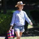 Natalie Portman – In denim shorts out in Sydney