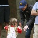 Jennifer Garner Taking Daughters To The Park In Brentwood
