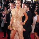 How embarrassing! A bra-less Lady Victoria Hervey gets kicked off the red carpet in Cannes after posing for too long - 454 x 685