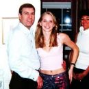 Prince Andrew, Virginia Roberts, aged 17, and Ghislaine Maxwell at her townhouse in London on March 13, 2001