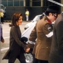 Michael Jackson and wife Lisa Marie Jackson