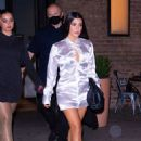 Addison Rae and Kourtney Kardashian – out for dinner in NYC