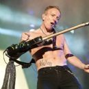 Phil Collen - During Def Leppard's performance at Download Festival on June 10th, 2011 - 407 x 612