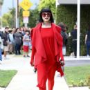 Kat Von D in Red Out in Los Angeles - 454 x 619
