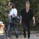 Demi Moore is showing her age with a bit of gray hair as she leaves her house in Los Angeles, California on April 18, 2014