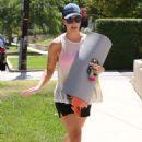 Kaley Cuoco In Shorts Leaving Yoga Class In Sherman Oak
