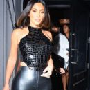 Kim Kardashian in Black Outfit – Arrives at Craig's in West Hollywood