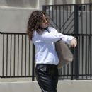 Emmy Rossum in Black Pants out in Beverly Hills - 454 x 520