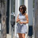 Abigail Spencer in Mini Dress – Feeds her meter in West Hollywood