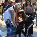 Zendaya Coleman is seen shopping with her mom and dog at the Grove in Los Angeles, California on August 12, 2016 - 454 x 550