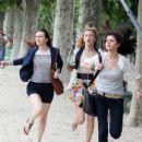 "Stars On Set Of ""Monte Carlo"" In Paris"