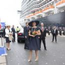Queen Maxima Of The Netherlands Batizes Cruise Ship MS Koningsdam - 454 x 354