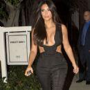 Kim Kardashian Leaving The Fig Olive Restaurant In West Hollywood