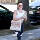 Emma Roberts in Tights – Out for lunch in Los Feliz