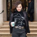 Camilla Belle – Leaving the Ralph Lauren Show in NYC