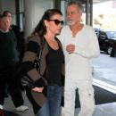 Eddie Van Halen and Jane Liszewski seen at LAX.