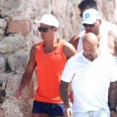 Cristiano Ronaldo shows off his impossibly ripped physique as he larks around with bikini-clad beauty during Spanish yacht trip - 454 x 591