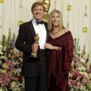 Robert Redford and Barbra Streisand At The 74th Annual Academy Awards (2002) - 454 x 709