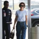 Katie Holmes at JFK Airport in NY