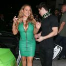 Mariah Carey in Green Dress at Catch LA in West Hollywood - 454 x 681