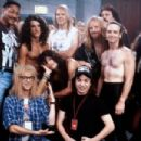 Mike Myers, Dana Carvey and Aerosmith Band in Wayne's World 2 (1993) - 454 x 303