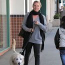 Nicollette Sheridan spotted out with her dog in Beverly Hills, California on January 7, 2016 - 439 x 600