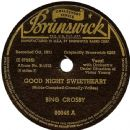 Bing Crosby - Good Night Sweetheart
