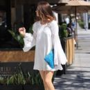 Actress Crystal Reed goes shopping in Beverly Hills, California on July 19, 2016