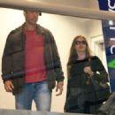 Sofia Vergara and Nicholas Loeb is seen at LAX airport