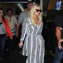 Jessica Simpson is seen as she arrives to Los Angeles Int'l Airport from NYC Friday September 11,2015