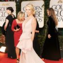 Charlize Theron arrives at the 69th Annual Golden Globe Awards held at the Beverly Hilton Hotel on January 15, 2012 in Beverly Hills