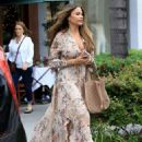 Sofia Vergara in Summer Dress Out For Lunch in Beverly Hills