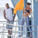 Dwayne Johnson- March 28, 2016-The Set of Baywatch - 454 x 491