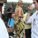 Paris Hilton enjoyed time by the pool at her Miami, Florida hotel on March 21, 2012