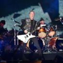 Musician James Hetfield of Metallica performs onstage at CBS RADIO's third annual 'The Night Before' at AT&T Park Presented by Salesforce on February 6, 2016 in San Francisco, California. - 454 x 302