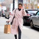 Cobie Smulders in Pinh Coat – Shopping in NYC - 454 x 590